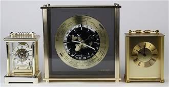 lot of 3 Quartz clock group including a Seiko world