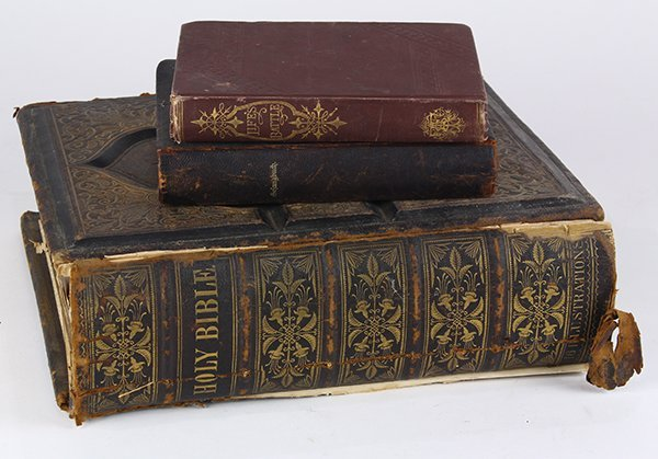 (lot of 3) Books, consisting of Gefangbuch, 1883;