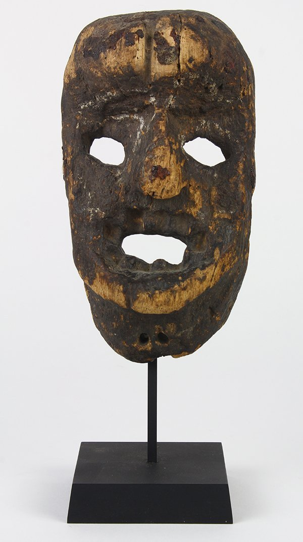 Small old wood mask, possibly Mexican, probably 19th