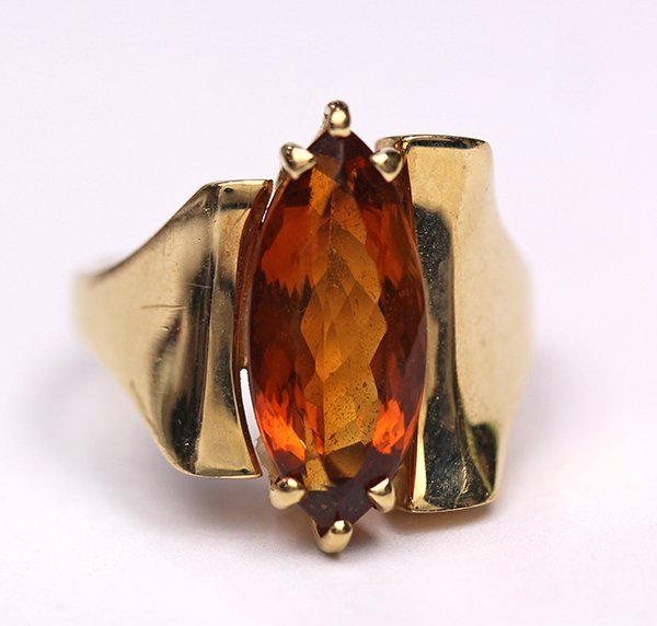 Citrine and 14k yellow gold ring