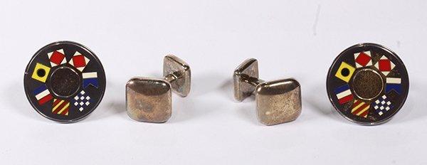 (Lot of 2) Tiffany & Co enamel, sterling silver