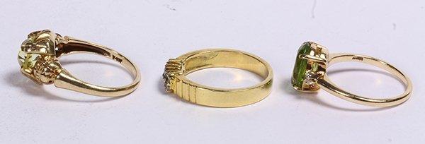 (lot of 3) Multistone, diamond, and 14k yellow gold - 2