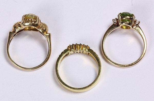 (lot of 3) Multistone, diamond, and 14k yellow gold - 3
