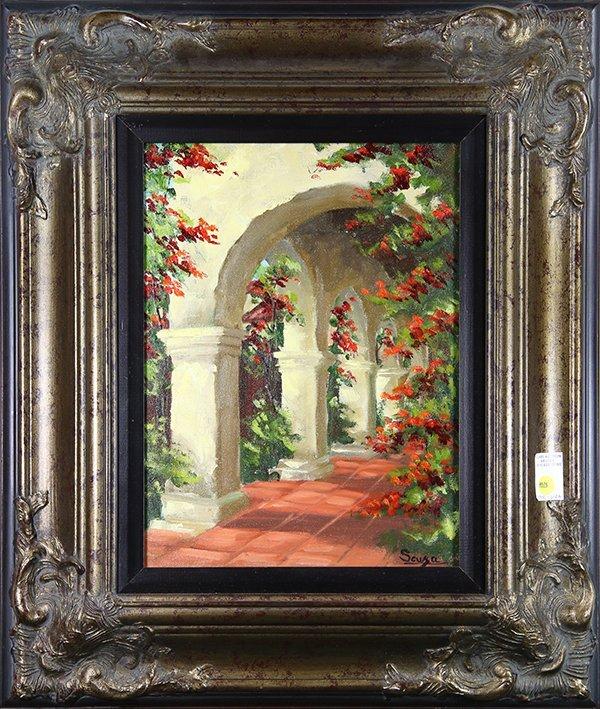 Garden Corridor, painting