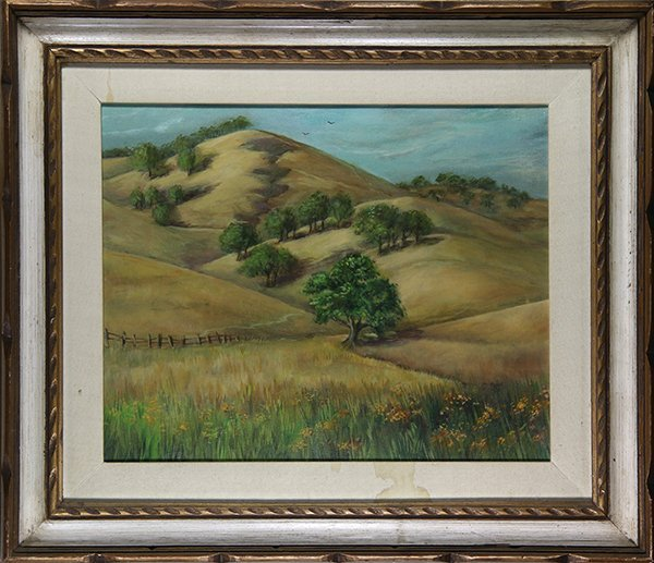 Oaks on the Foothills, painting