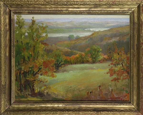 Autumn Wooded Landscapes, paintings
