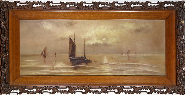 Paintings, Sailing Boats at Dusk - 2