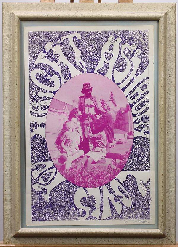 Vintage Psychedelic Poster, Joseph Gomez, Haight