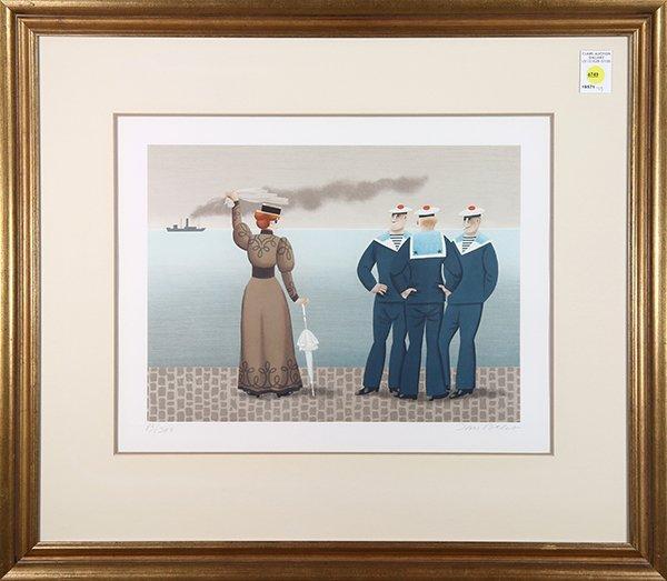 Print, Jan Balet, The Departure