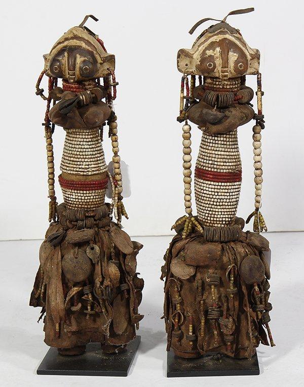 (Lot of 2) African Namibia Ambo Ovambo fertility dolls