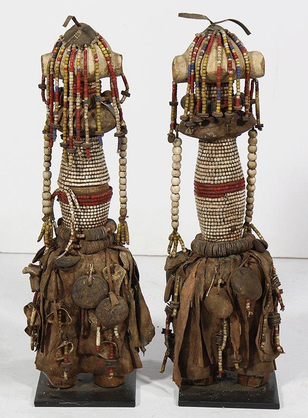 (Lot of 2) African Namibia Ambo Ovambo fertility dolls - 2