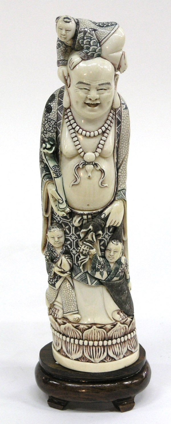 6683: Japanese style ivory carving of Hotei