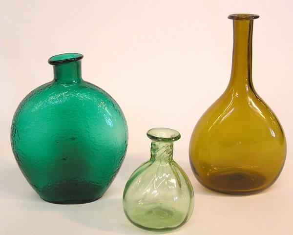 4003: 3 blown bottles, one cracked