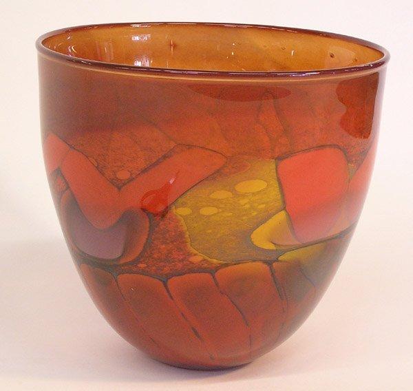 4007: Art glass bowl Steven Main