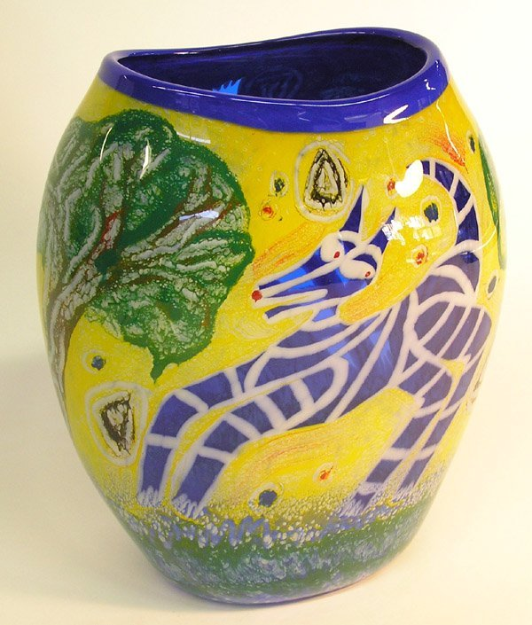 4017: Hargrove Andiamo studio glass vase