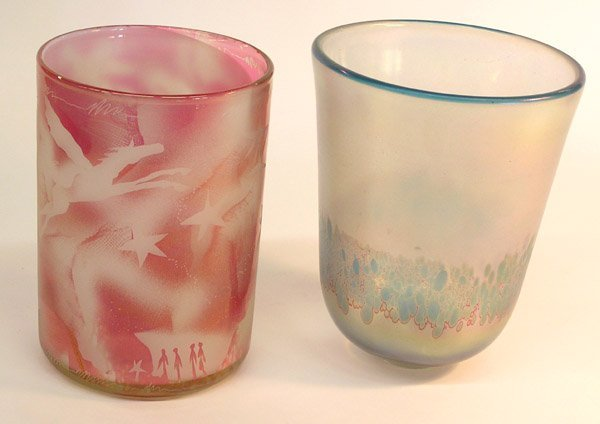 4020: Art Glass Vase, Mary White