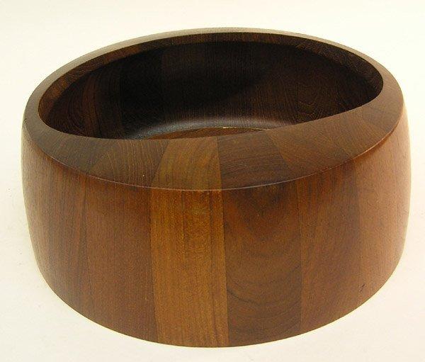 4072: Early Dansk teak salad bowl, JHQ Denmark