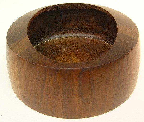 4072: Early Dansk teak salad bowl, JHQ Denmark - 2