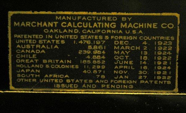 4500: Vintage Marchant hand crank calculator - 2