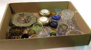 4545: Brass, Glass, Oak, Porcelain Salts