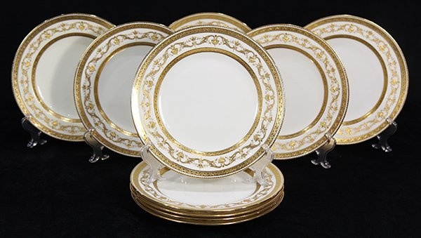 (lot of 10) Minton porcelain service plates