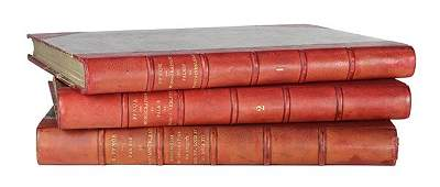 Lot of 3 French Rodolphe Pfnor leather bound books