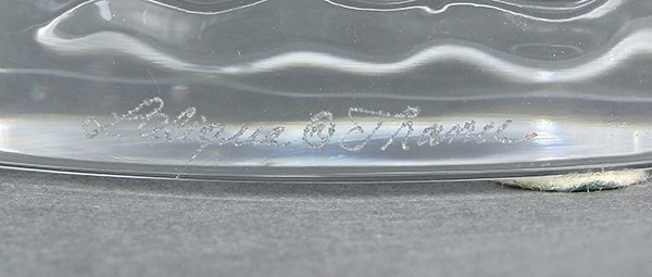 French Art Deco Lalique 'Ondines' glass vase - 4
