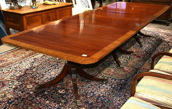 Regency style dining table - 5