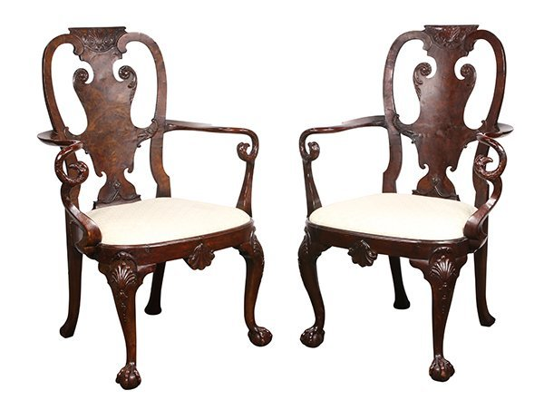 (lot of 2) George III armchairs