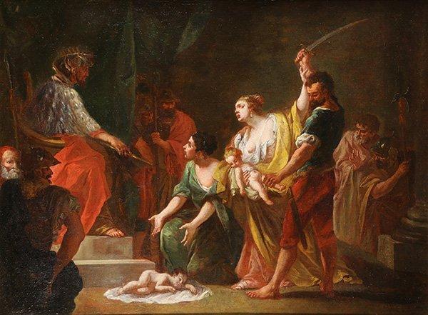 Wisdom of King Solomon, painting