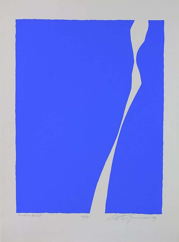Print, Adja Yunkers, White on Blue II