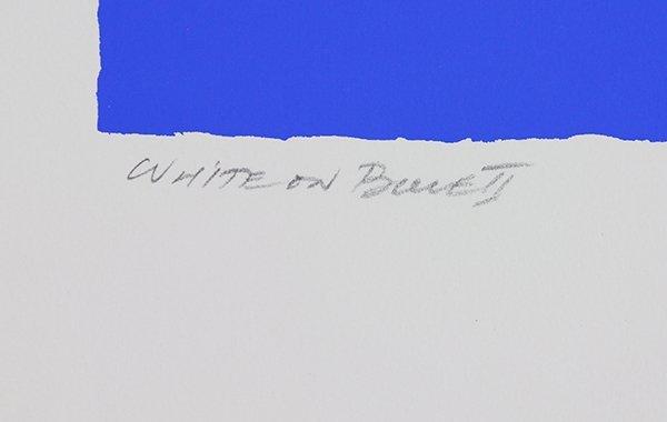 Print, Adja Yunkers, White on Blue II - 2