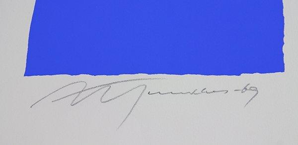 Print, Adja Yunkers, White on Blue II - 3