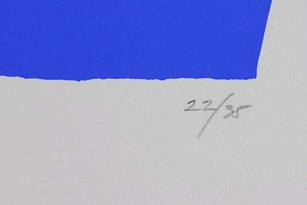 Print, Adja Yunkers, White on Blue II - 4