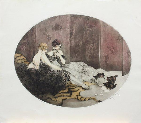 Print, Louis Icart, Spilled Milk