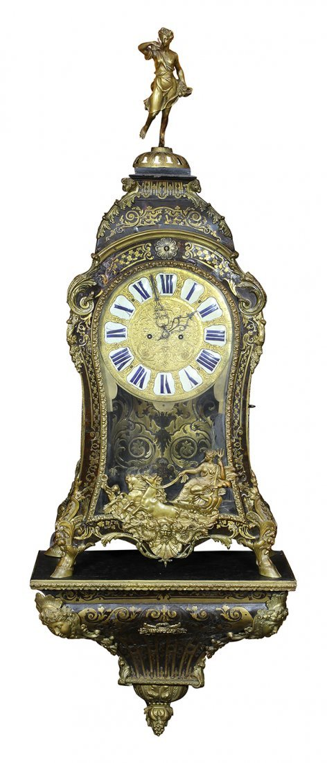 Monumental Louis XV boulle style inlaid and ormolu