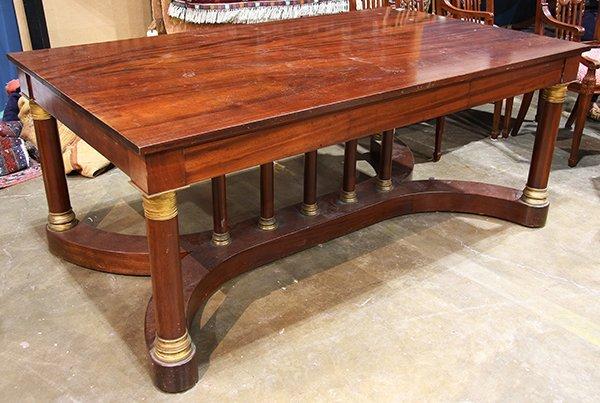 French Empire style mahogany bureau plat