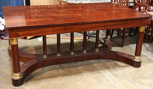 French Empire style mahogany bureau plat - 2