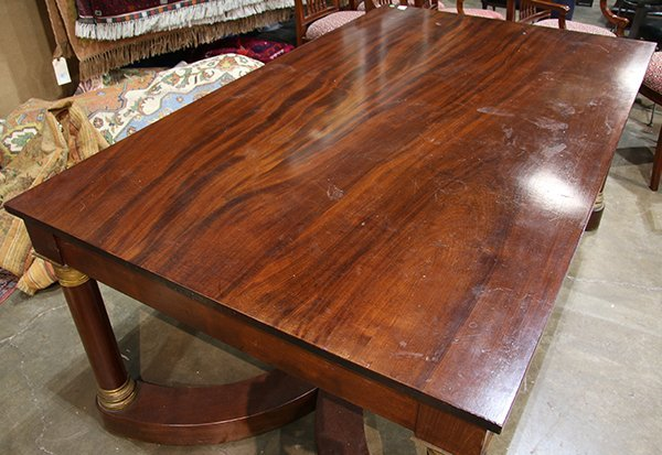 French Empire style mahogany bureau plat - 3