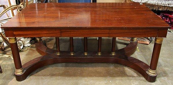 French Empire style mahogany bureau plat - 4