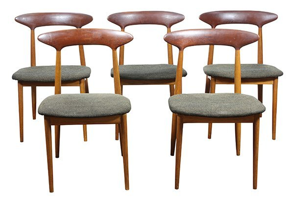 (lot of 6) Danish Modern style teak side chairs,