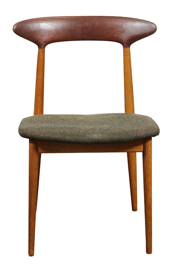 (lot of 6) Danish Modern style teak side chairs, - 4