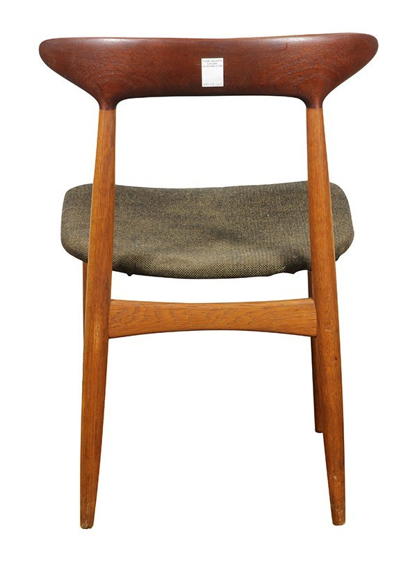 (lot of 6) Danish Modern style teak side chairs, - 6