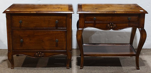 (lot of 2) French provincial style chest and console