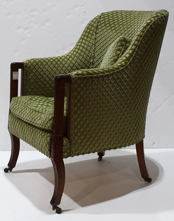Art Deco style club chair, having a repeating velvet - 2