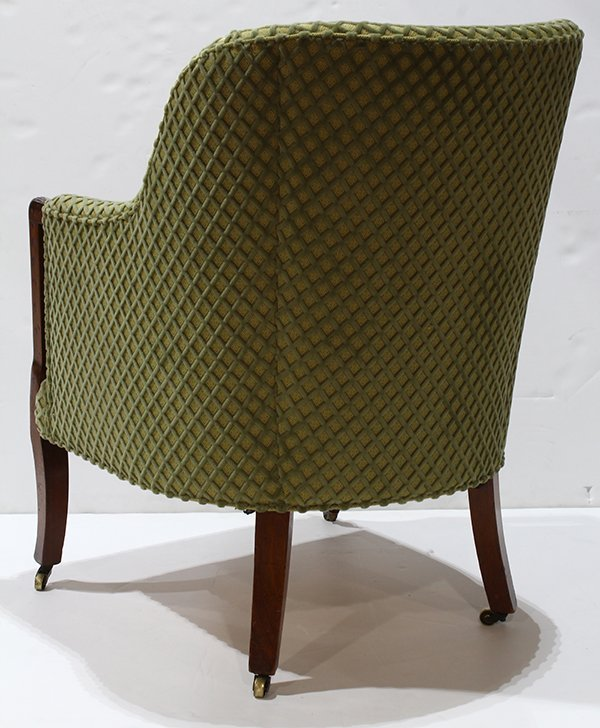Art Deco style club chair, having a repeating velvet - 3