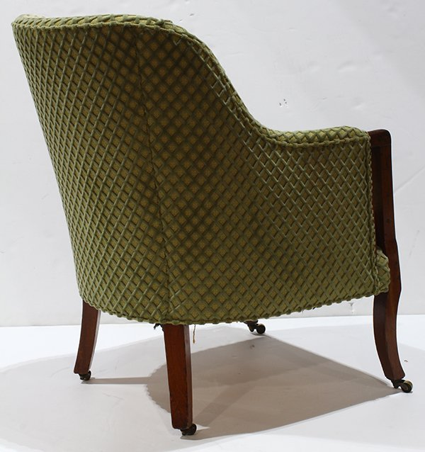 Art Deco style club chair, having a repeating velvet - 4