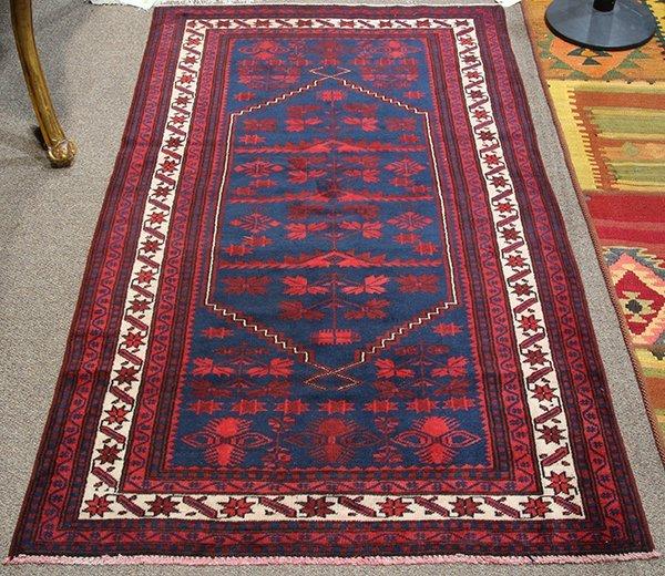 "Persian Belouch carpet, 6'4"" x 3'9"""