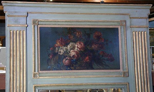 French Louis XVI style polychrome decorated trumeau - 2
