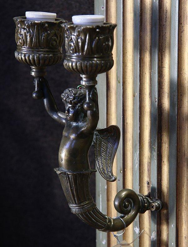 French Louis XVI style polychrome decorated trumeau - 4